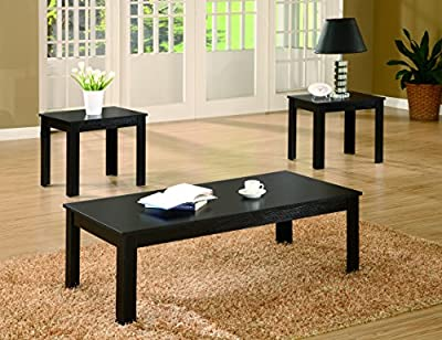 Coaster Home Furnishings 3-piece Occasional Table Set Black