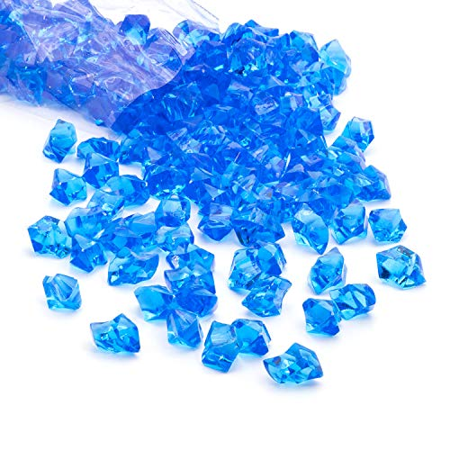 Acrylic Gems Ice Crystal Rocks for Vase Fillers, Party Table Scatter, Wedding, Photography, Party Decoration, Crafts by Royal Imports, 3 lbs (Approx 580-600 gems) - Dark Blue
