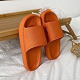 Ririhong Zapatillas de Verano para Mujer de Suela Blanda, Zapatos de Playa, Sandalias de Moda Transpirables Antideslizantes, Chanclas de Uso exterior-36-37_Orange