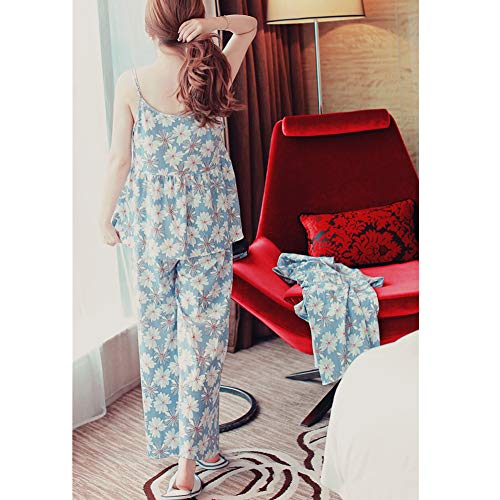 花柄 ルームウェア 花柄 3点セット レディース 部屋着 パジャマ 長袖 キャミソール 抜け感 春夏