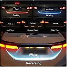 QAWACHH® Universal 60 Led,Dicky Streamer Brake Turn Signal Flow LED Strip Trunk Light 4 Color