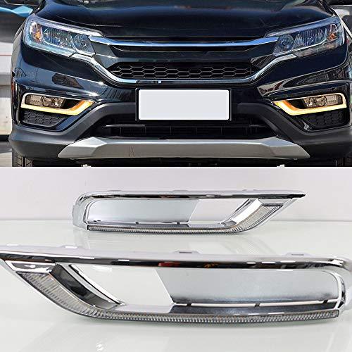 Luz diurna para coche intermitente, 1 juego de luces diurnas, luz diurna y resistente al agua, lámpara de señal, para Honda CRV CR-V 2015 2016, luz de día, luz antiniebla, color blanco