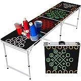 "Erster ""5 in 1 Multigame"" Bierpong Tisch mit 5 Spielen Inkl. 60 Stabile Becher + 8 Bälle + Anleitung - Klappbarer & Stabiler Original Aluminium MBP MyBeerpong® Tisch"