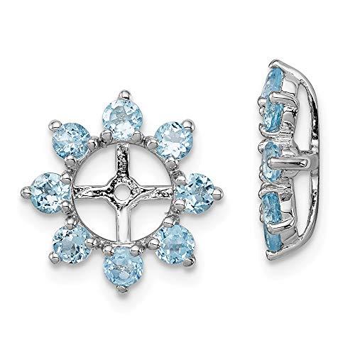 Ohrringe Sterlingsilber Schweizer Blautopas Jacke-JewelryWeb