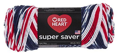 Red Heart Super Saver Yarn E300.3943, Print-Americana