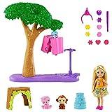 Barbie y Chelsea El cumpleaños perdido, Chelsea cumpleaños con piñata, muñeca con set de juego con accesorios y mascotas (Mattel GTM84)