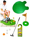 alles-meine.de GmbH 7 TLG. XL Set -  WC & Toiletten - Golf Spiel mit Schläger & Golfball  -...