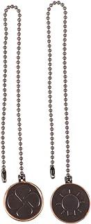 Uonlytech 2 piezas de lámpara de ventilador en forma de moneda extensión de cadena de extracción ornamento decorativo para luz de techo cadena de ventilador (plata)