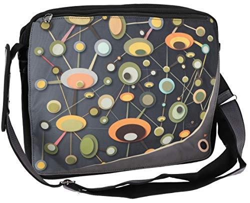 GURU SHOP 70`s up Retro Schultertasche, Laptop - Modell 10, Herren/Damen, Mehrfarbig, Synthetisch, Size:One Size, 33x38x6 cm, Alternative Umhängetasche, Handtasche aus Stoff
