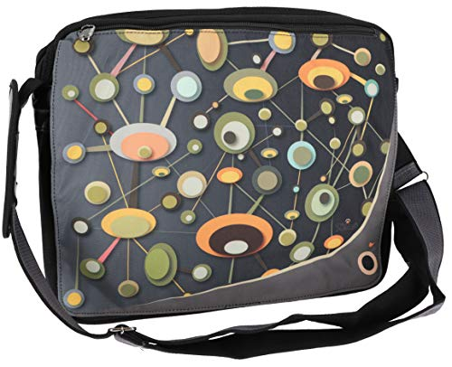Guru-Shop 70`s up Retro Schultertasche, Laptop - Modell 10, Herren/Damen, Mehrfarbig, Synthetisch, Size:One Size, 33x38x 6 cm, Tragetasche, Umgängetasche