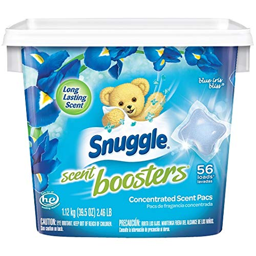 Snuggle Scent Boosters Blue Iris Bliss Concentrated Laundry Scent Pacs 39.5 oz. Tub (1)