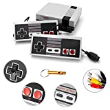 nes advantage controller - LONSUN Classic Retro Game Console with 620 Games, Childhood Game Console Game Player with 2 NES Controllers and AV Output, Best Gift for Kids