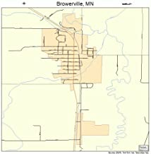 Large Street & Road Map of Browerville, Minnesota MN - Printed poster size wall atlas of your home town