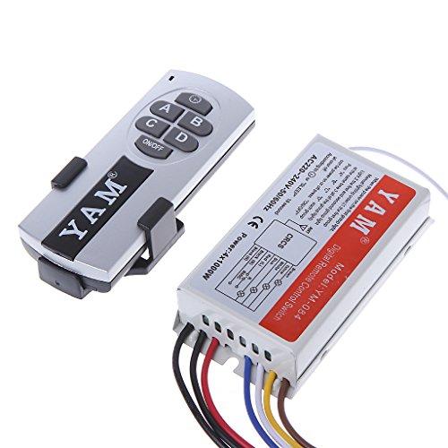 PENG 4-weg aan/uit-schakelaar met afstandsbediening, draadloos, lamp voor digitale ontvanger