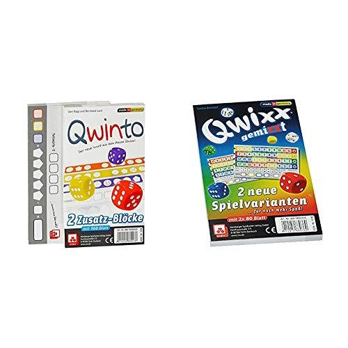 NSV - 4038 - QWINTO - Ersatzblöcke 2-er Set - Würfelspiel & 4033 - QWIXX GEMIXXT - Zusatzblöcke 2-er Set - Würfelspiel
