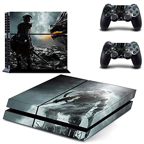 Game The Elder Scrolls V Skyrim Ps4 Skin Sticker Decal for Playstation 4 Console and 2 Controller Skin Ps4 Sticker Vinyl