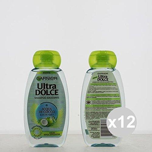 Set 12 GARNIER Ultra Dolce Shampoo 250 Acqua Di Cocco Shampoo E Balsamo
