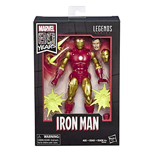 """Price comparison product image Marvel Comics 80th Anniversary Legends Series 6""""-Scale Vintage Comic-Inspired Iron Man"""