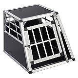 FDS ALU Hundebox Transportbox Hundetransportbox Alubox Box Reisebox Autobox Gitterbox (Klein)