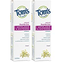 2-Pack Tom's Fluoride-Free Antiplaque & Whitening Natural Toothpaste