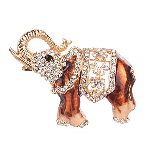 SHANGZHIQIN Schmuck broschen Frauen mädchen geschenkbox, Mode Legierung Elefanten bedeckt schals schal Clip für Frauen Damen