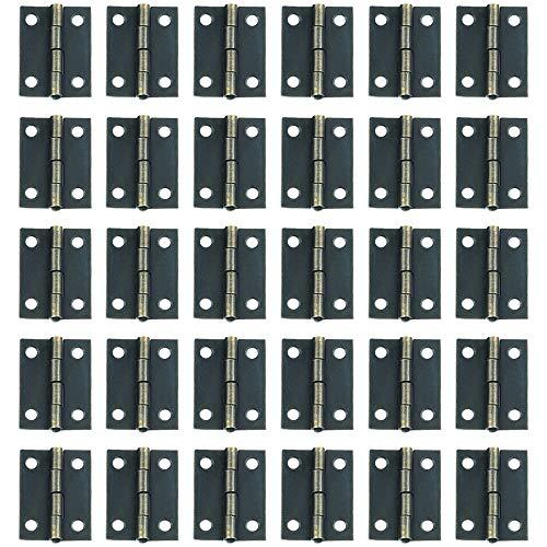 muebles de hogar WhyTin Bisagras peque/ñas de 28 mm de acero inoxidable con 120 tornillos para caja de madera puerta de armario armario