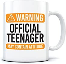 Warning Official Teenager - Teenage 13th Birthday - Mug for Tea Coffee - Teen Boy Girl Years Old One Size White