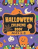 Halloween Coloring Book, Ages 4-8: Happy Halloween Books for Kids