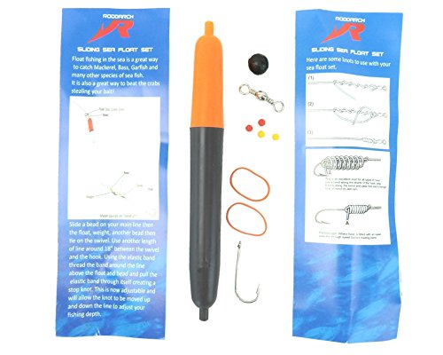 Roddarch 4 X Sea Fishing Float Set Includes Floats, Hooks, Beads, Weights, Stops & Instructions