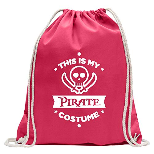 Kiwistar This is My Pirate Costume - Mochila de deporte, de algodón, con correa, rosa, Talla única