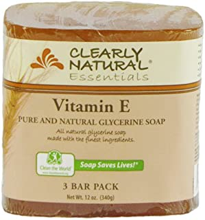 Clearly Natural Glycerine Bar Soap, Vitamin E, 3 Count