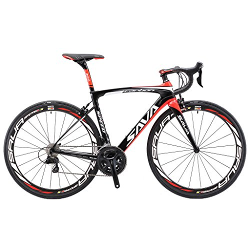Best Prices! Carbon Road Bike, SAVA HERD6.0 T800 Carbon Fiber 700C Road Bicycle with 105 22 Speed Gr...