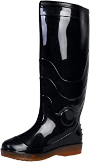 Neoprene Casual Mens Wellies Waterproof Snowproof Soft Plush Lining Rain Boots Easy Wipe Clean Wellington Boots Durable Sturdy Shoes for Garden Fishing Walking Travelling