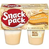Snack Pack Banana Cream Pie Pudding Cups, 4 Count, 12 Pack
