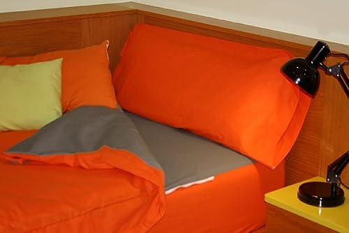 descuento online Montse Interiors Saco Nórdico Liso Algodón 100% Combi Cotton TA TA TA naranja gris (Cama DE 90)  Envío y cambio gratis.