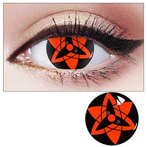 Acdresong Mehrfarbig Kontaktlinsen Jahreslinsen, Flexiblen Hochdeckende Naruto Cosplay Kontaktlinsenfarbe, Durchmesser 14.5mm, Ohne Sehstärke (mehrfarbig 3, 1 paar)