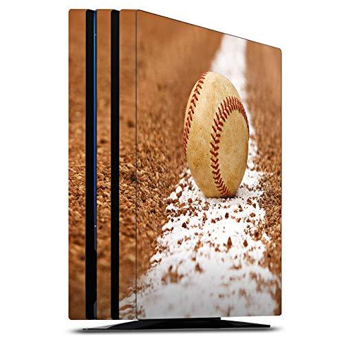 DeinDesign Skin kompatibel mit Sony Playstation 4 PS4 Pro Folie Sticker Ball Baseball Sport