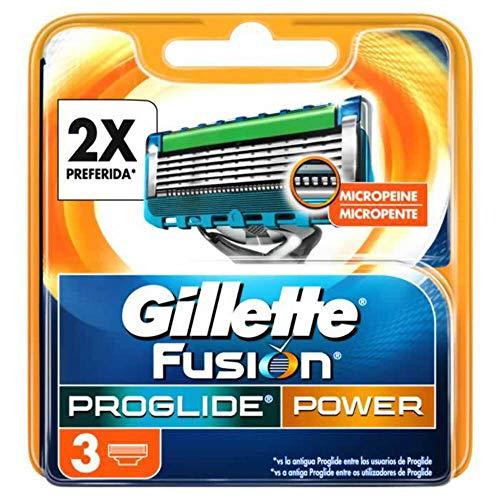 GILLETTE Fusion proglide power maquinilla de afeitar recambio blíster 3 uds