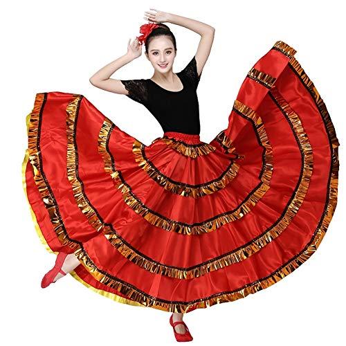 Dames Flamenco Rok Dames Bellydancer kostuum Spaanse stier dansrok