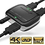 4K HDMI Splitter 1 in 2 Out, Fosmon 1x2 HDMI 1.4 Volt Powered Splitter (4k at 30 Hertz Full UHD 1080p 3D) with AC Power Adapter for Duplicated-Mirror Dual Monitor (1 Source-2 Display Simultaneously)