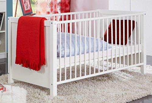 Dreams4Home Babybett 'Multicolor', Baby Bett, 70 x 140, Babyzimmer, Kinderzimmer, Kinderbett, Bettseiten, Ausführung:mit Bettseiten