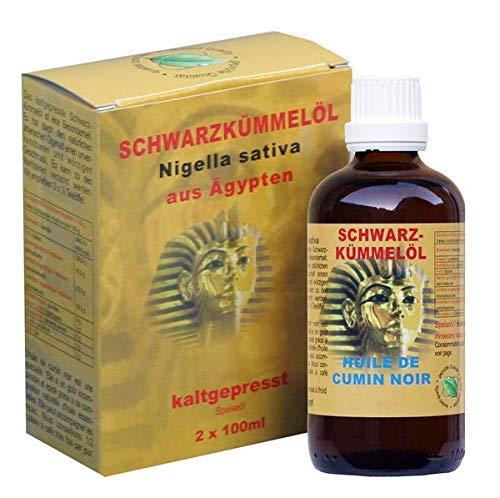 NaturGut Schwarzkümmelöl Kaltgepresst Rein Nigella Sativa Ägypten 2x100ml Pures Schwarzkuemmeloel Ägyptisches Kümmelöl