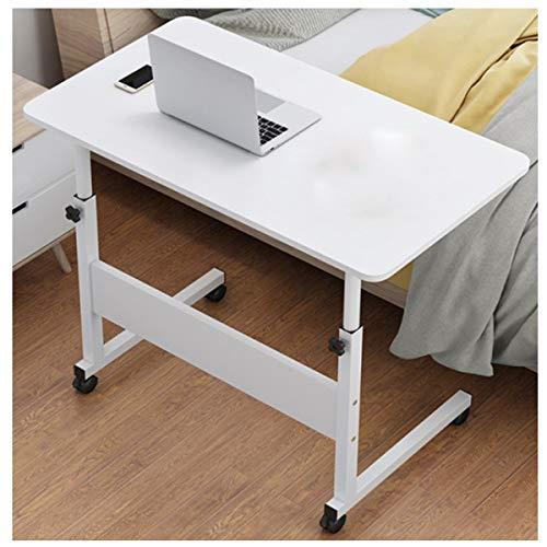 Überbettetisch Einstellbarer Lap-Tisch tragbarer Laptop Mobiler Computerständer Schreibtisch, Machen Büro, Unterhaltung (Color : Warm White, Size : 80x40CMA)