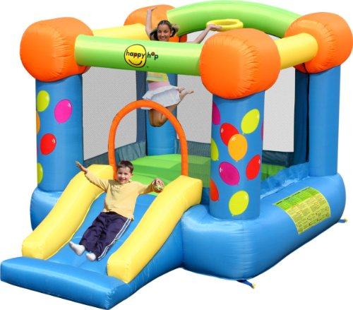 Happy Hop BJ9070 – Slide Party Slide and Hoop Bouncer