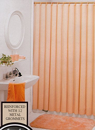 Better Home Solid Deluxe Heavy Weight Shower Curtain Liner, Peach