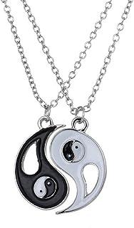 Collar Amistad Yin Y Yang, Tai Colgante, Hombres Puzzle Colgante Collar De Los Amantes del Collar De Yin Yang Parejas