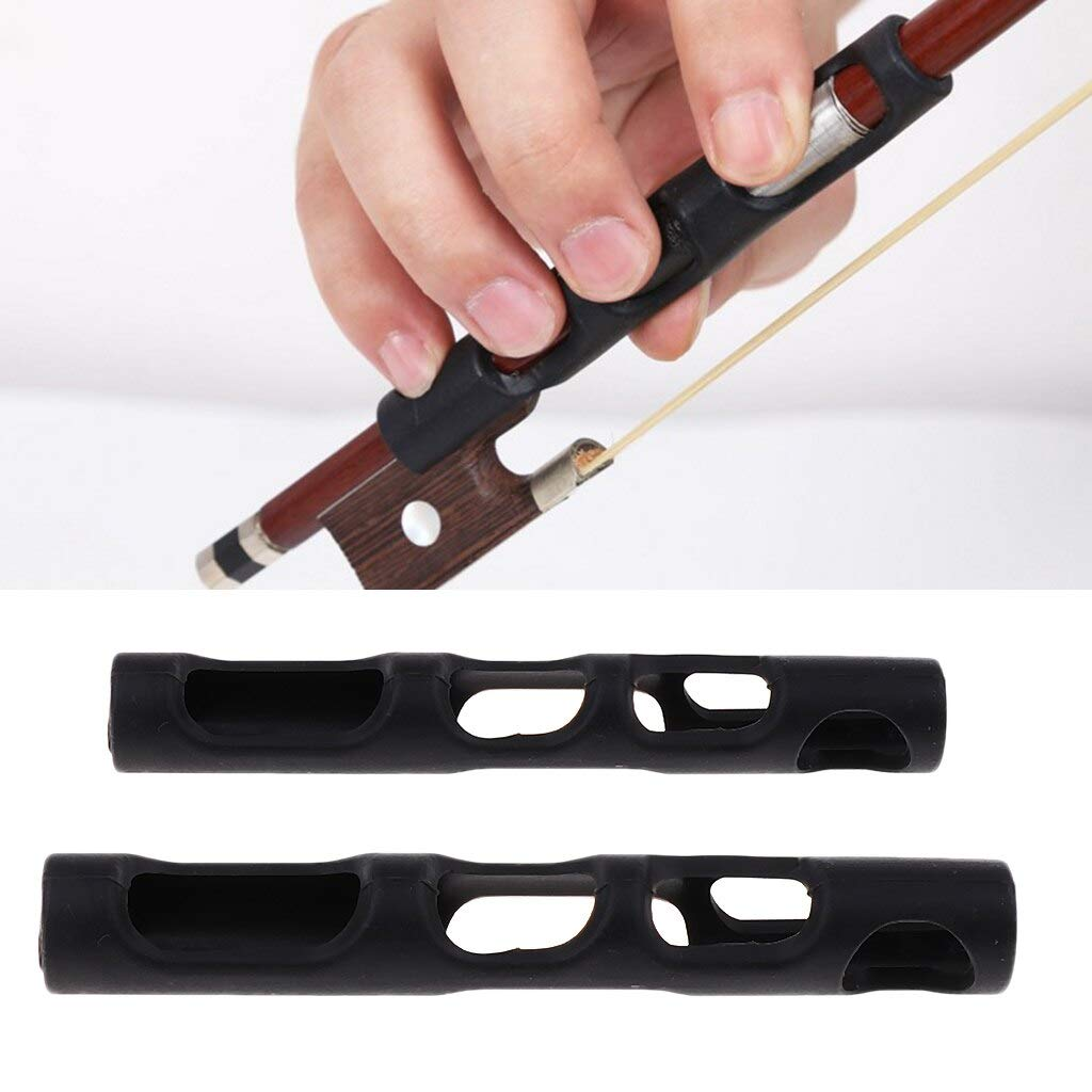 Violin Parts 2X Violin Bow Hold Buddy Violin Parts Accessories for Beginner 9.4cm+7.8cm