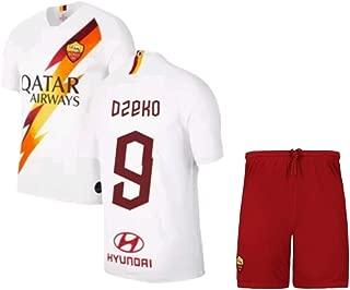 Dzeko #9 2019-2020 AS Roma Men's Away Soccer Jersey/Short Colour White