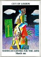 ポスター デビット ホックニー City of London 1982 額装品 アルミ製ベーシックフレーム(ライトブロンズ)