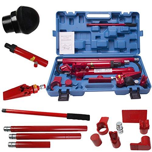10 Ton Porta Power Hydraulic Jack Repair Kit Auto Shop Air Pump Lift Ram Body Frame Tool Heavy Set